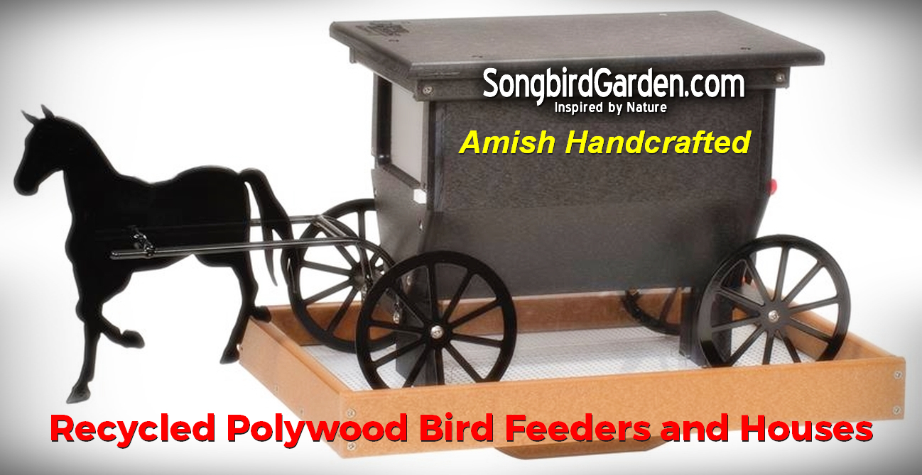 Amish Handcrafted Recycled Poly Bird Feeders and Birdhouses