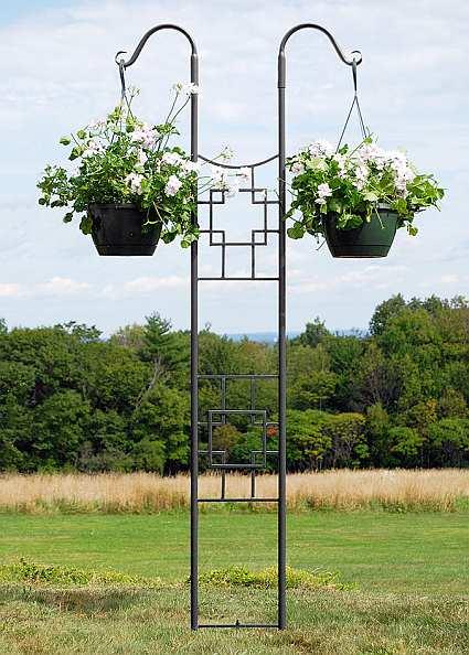 Erva Best Tubular Pole Mount Flower Pot Sets Quality Pole