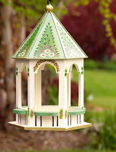Bird Feeders, Gazebo Style Bird Feeders For Feeding Backyard Birds at