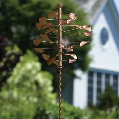 Pinwheel Large Wind Spinner With Twisted Stake Whirligigs