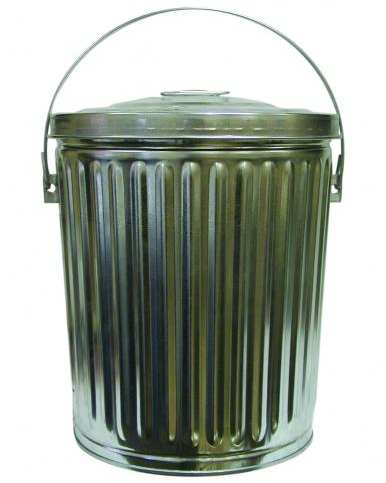 Galvanized bird seed can 10 gallon storage containers for storing bird seed and pet food at - Gallon bucket garden container ...