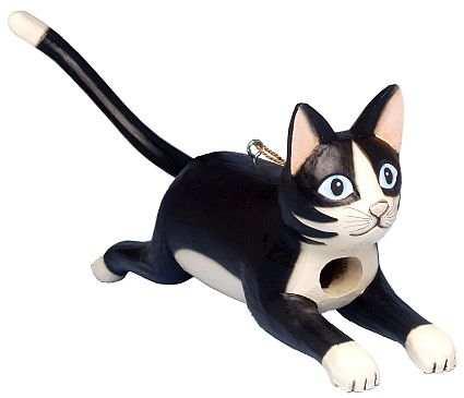 Carved Black Cat In Black Seed