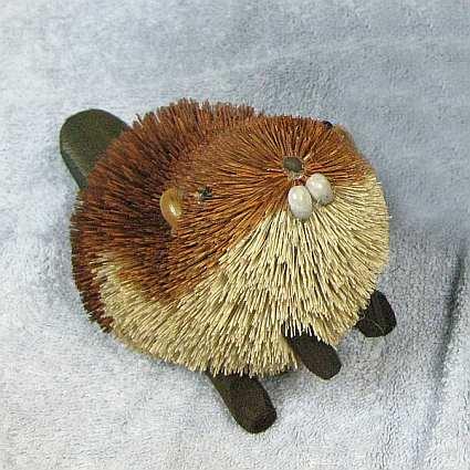 Brushart natural bristle brush buri animals and hanging ornaments