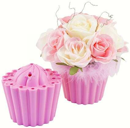 Cupcake vase raspberry pink