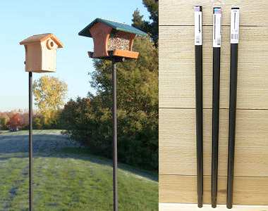 Erva Best 3 Piece Birding Pole Set Easy Install Heavy