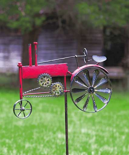 Tractor Garden Stakes : Vintage farm days tractor kinetic garden stake