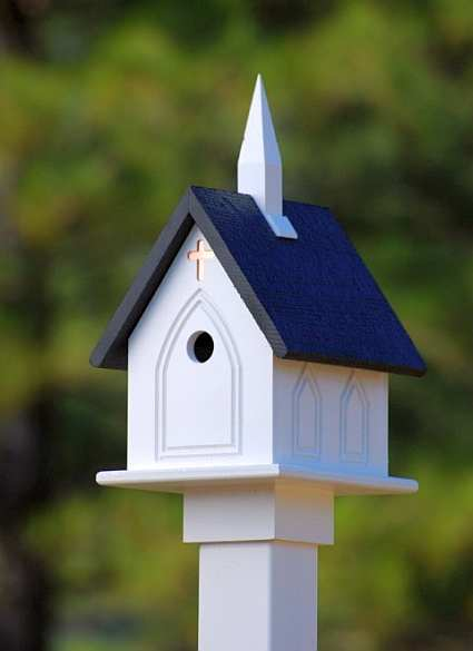 Fancy Home Products 12 Inch Church Bird Feeder Classic