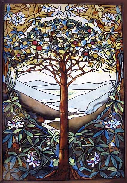 Glassmasters stained glass tree of life louis comfort