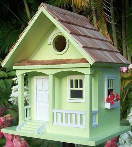 Home Bazaar Birds Of A Feather Key Lime Cottage Birdhouse