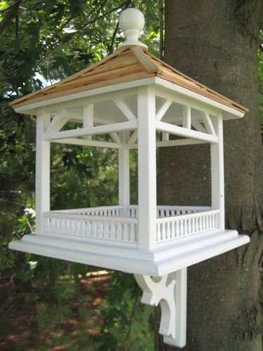 Home Bazaar Dream House Pine Shingle Roof Bird Feeder Fly