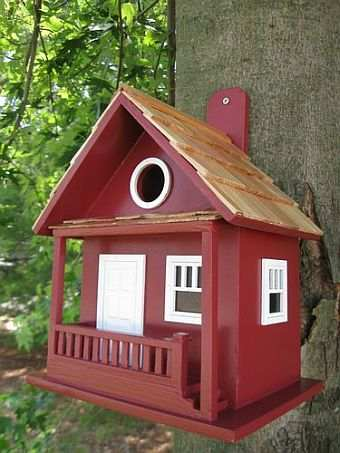 Original birdhouse book plans for building 26 bird houses for Song bird house plans