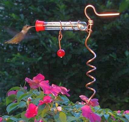 Flower Hummingbird Feeder Flower Pot Hummingbird Feeder