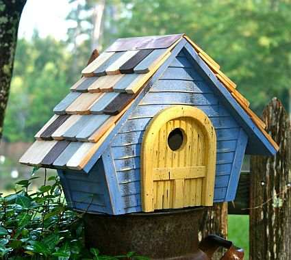 Heartwood high cotton bird house lime green quality for Song bird house plans