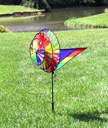 Premier Designs Rainbow Triple Spinner Garden Wind