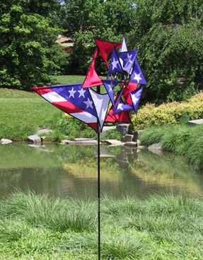 Premier designs patriotic triple garden spinner patriotic for Wind garden by premier designs