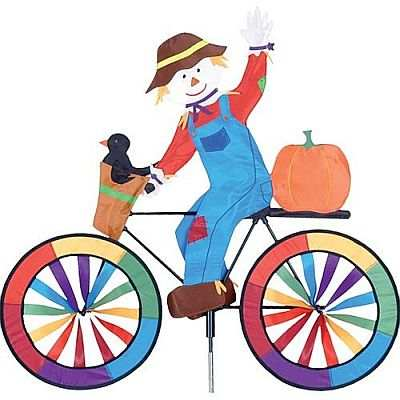 Premier Designs Scarecrow Bicycle Garden Spinner Large