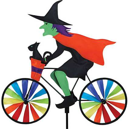 Premier Designs Witch Bicycle Garden Spinner Large Witch