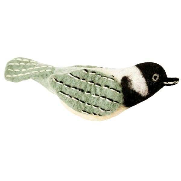 Wild Woolies Ornament Chickadee
