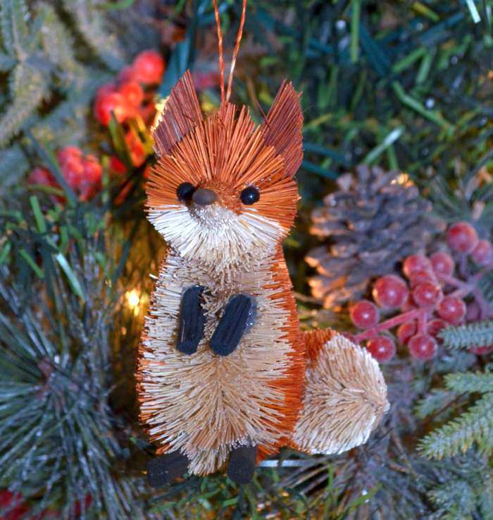 Brushart Bristle Brush Ornament Fox