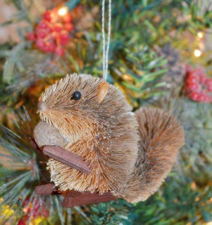 Brushart Bristle Brush Ornament Grey Squirrel