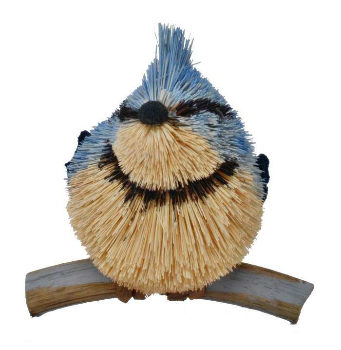 Brushart Bristle Brush Animal Blue Jay 5