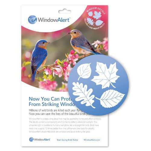 WindowAlert Bird Anti-Collision Leaf Medley Decals