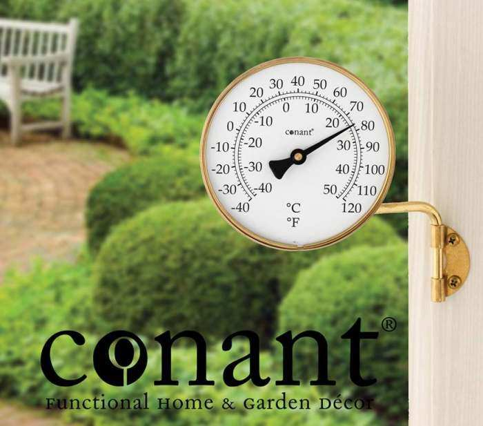 Vermont Dial Thermometer Living Finish Brass