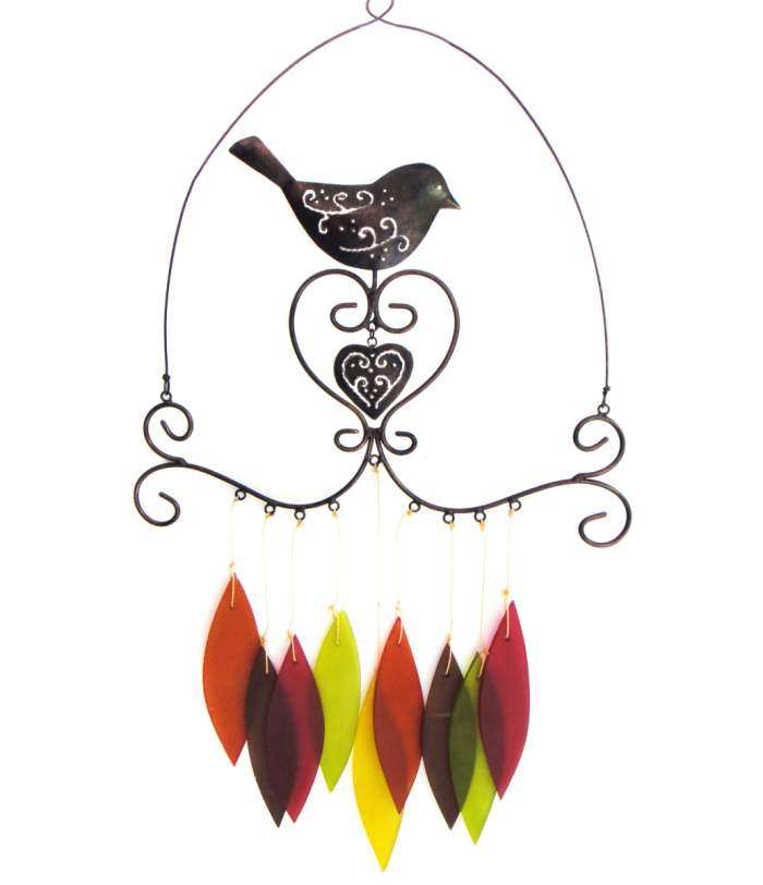 Bird & Heart Wind Chime