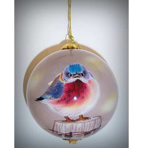 Songbird Series Mad Bluebird Ornament