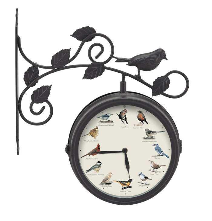 Decorative Outdoor Singing Bird Clock Thermometer, Singing Bird Sound  Clocks at Songbird Garden - Decorative Outdoor Singing Bird Clock Thermometer, Singing Bird