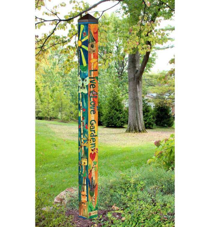 6 ft Art Pole 5x5 Love Garden