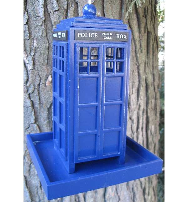 British Inspired Police Call Box Bird Feeder