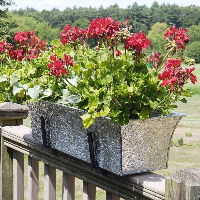Achla Handrail Embossed Flower Box Kit