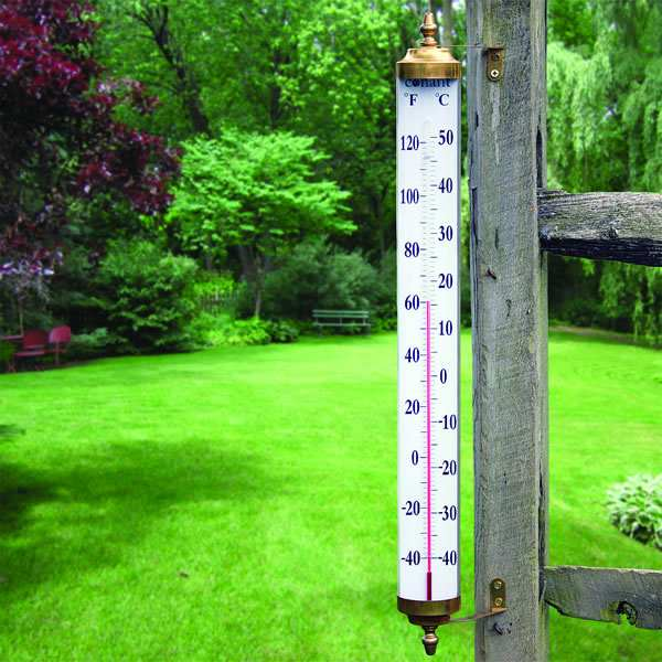 Vermont Grande View Thermometer Brass 24