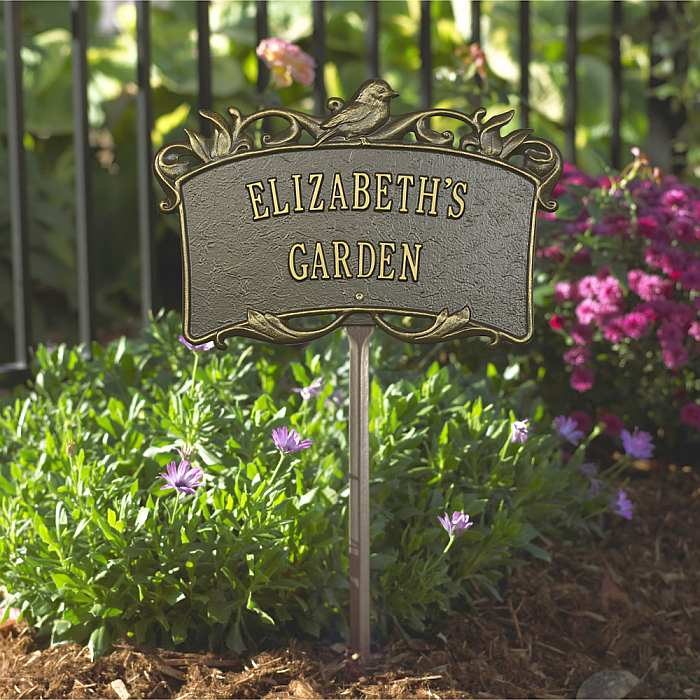 Personalized Garden Plaque Bird Garden