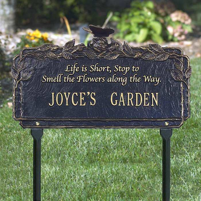 Personalized Garden Plaque Butterfly Poem
