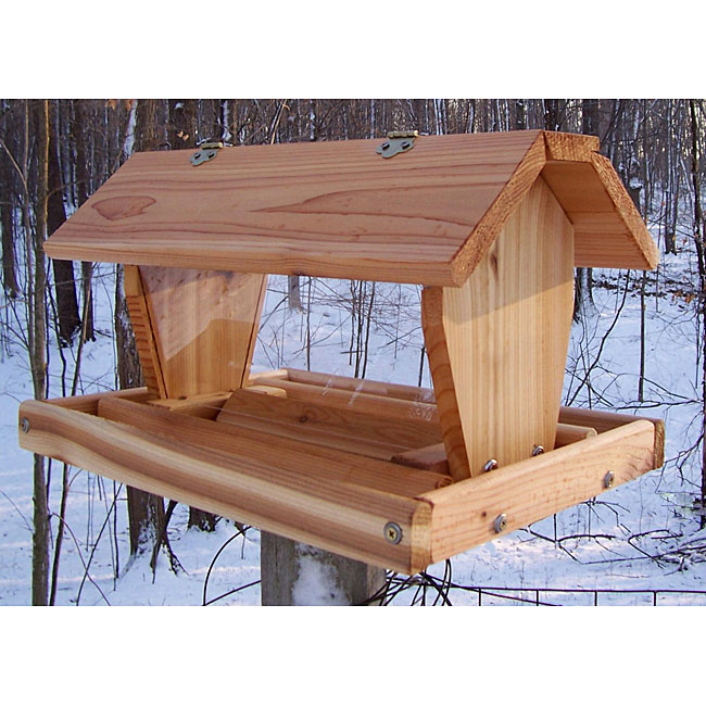 Cedar Select Medium Post Mount Hopper Feeder