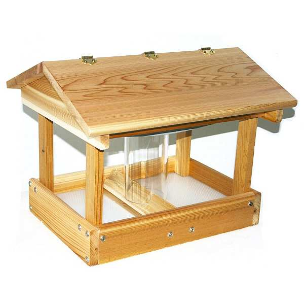Cedar Select Pavilion Feeder with Seed Hopper