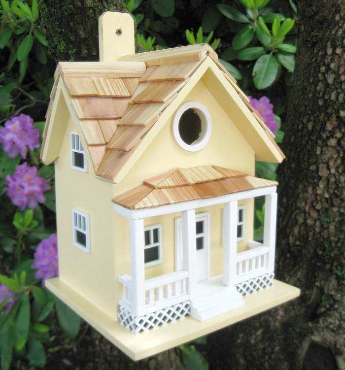 Beachside Cottage Birdhouse Yellow