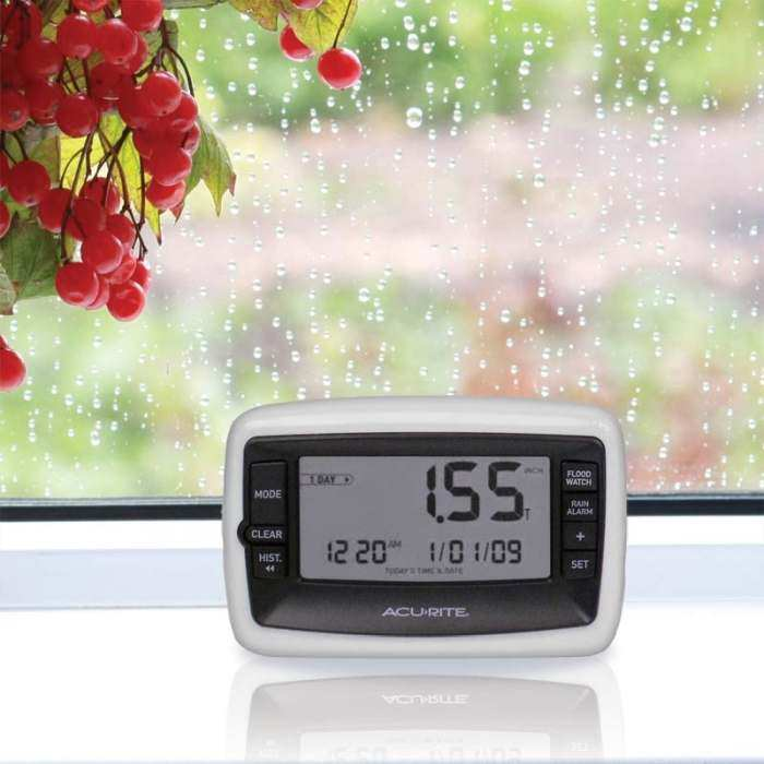 Digital Rain Gauge w/Wireless Rain Collector