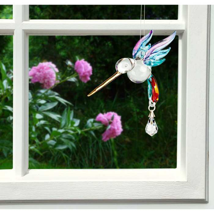Fantasy Glass Suncatcher Hummingbird Summer