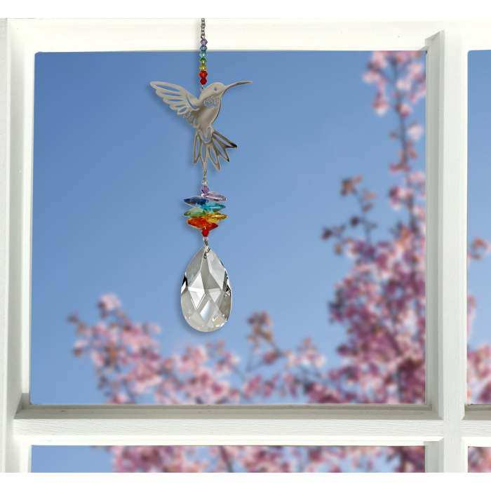 Crystal Fantasy Suncatcher Hummingbird Large