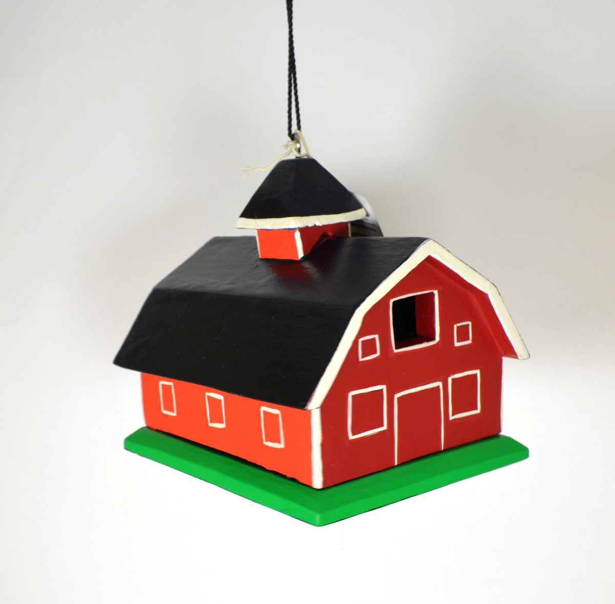 Americana Red Barn Backyard Birdhouse
