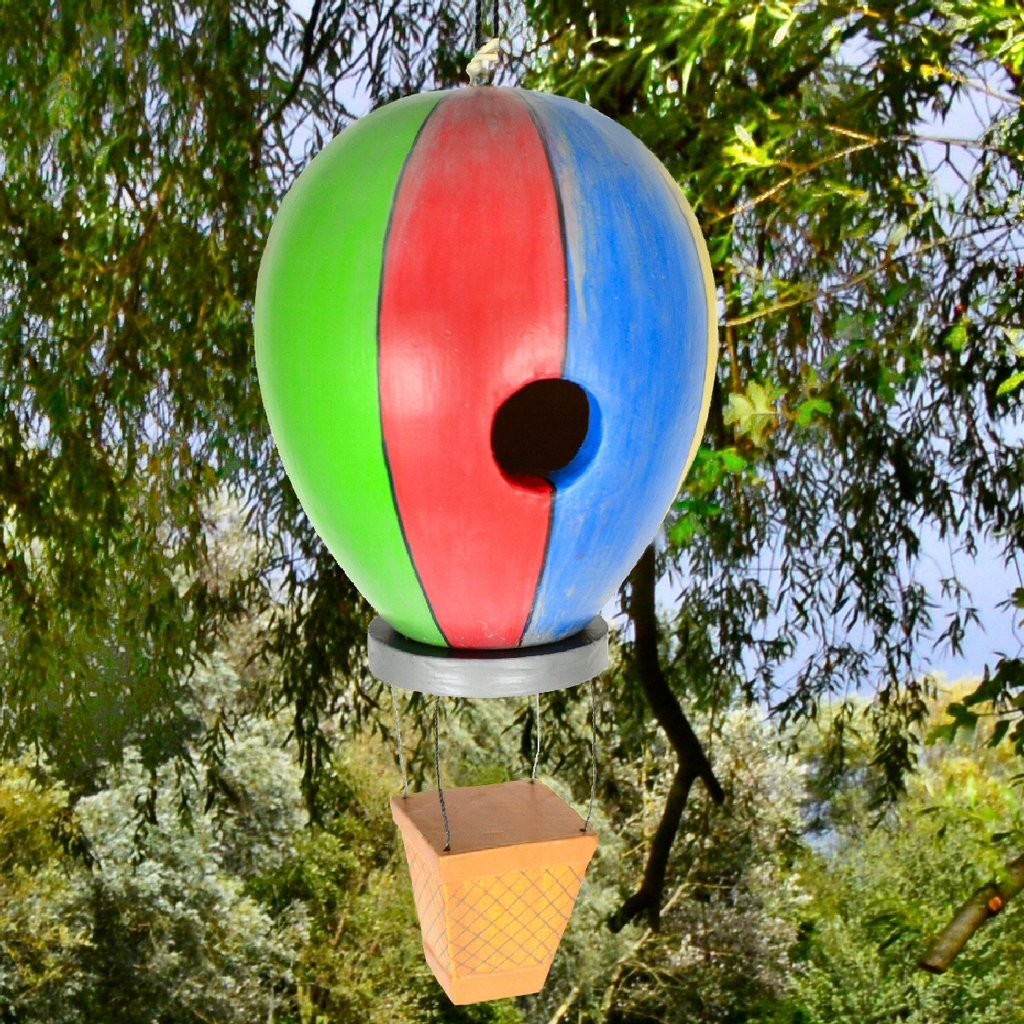 Americana Hot Air Balloon Backyard Birdhouse