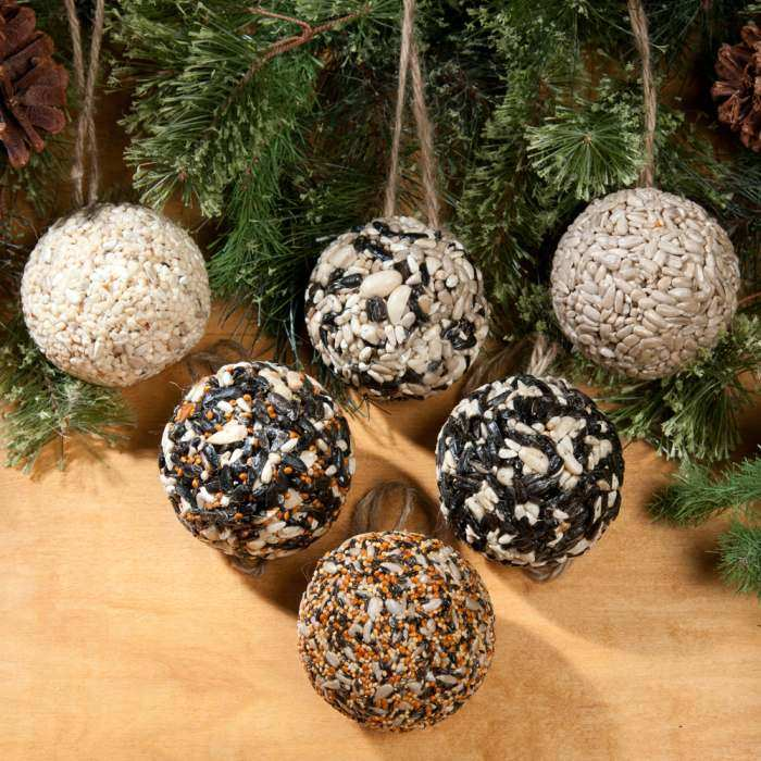 Tree Ornament Seed Balls Set of 6
