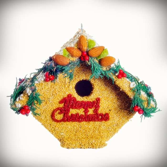 Juniper Casita Merry Christmas Birdhouse