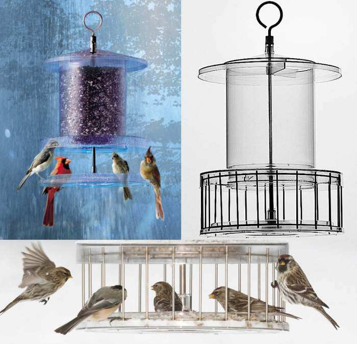 All Weather 4 Qt. Weatherproof Bird Feeder w/Cage
