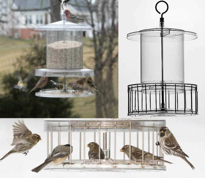 All Weather 6 Qt. Weatherproof Bird Feeder w/Cage