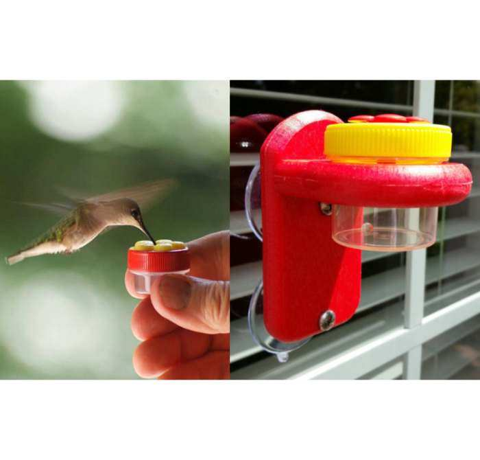 Nectar Dots Window Hummingbird Feeder Combo