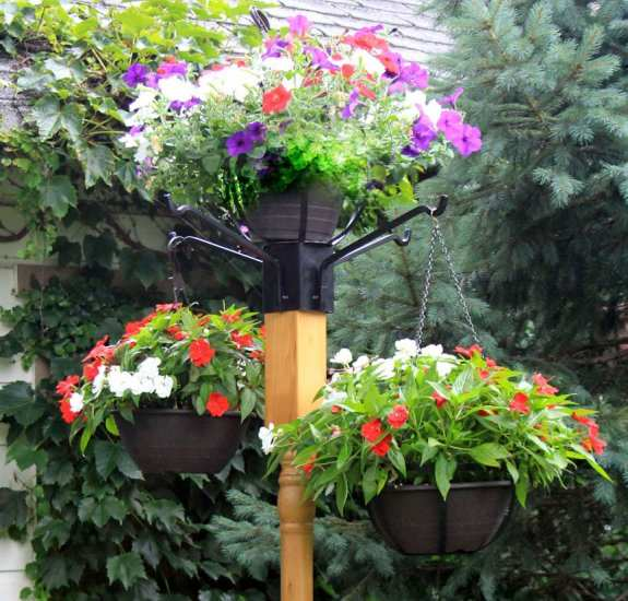 Best 4x4 Post Flower Pot Holder with 4 Arms